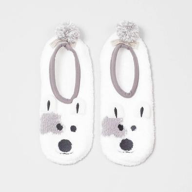 Animal Footlet Slipper Sock - Dog