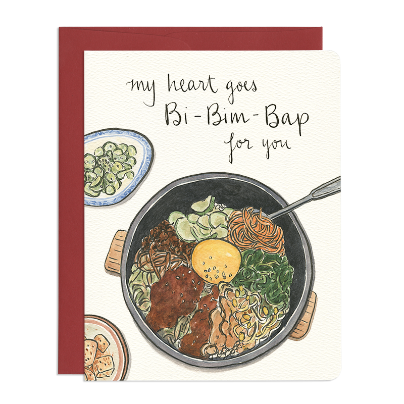 Bibimbap Heart - Greeting Card