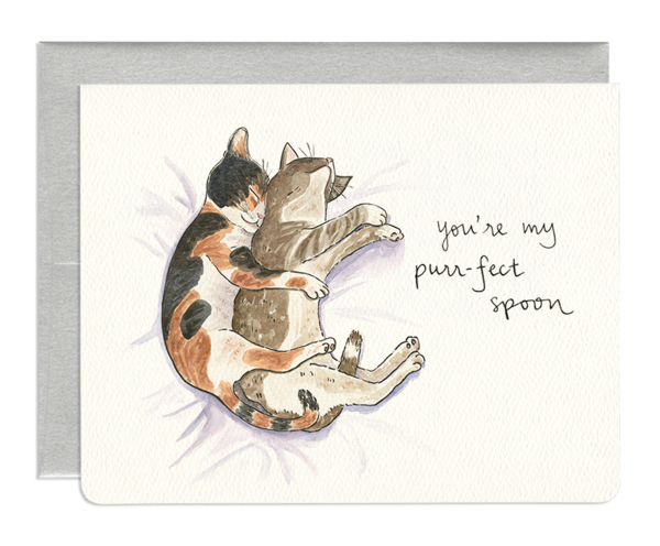 Purr-fect Spoon - Greeting Card