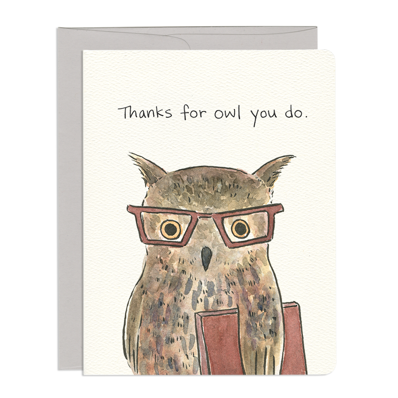 Owl Thanks - Greeting Card