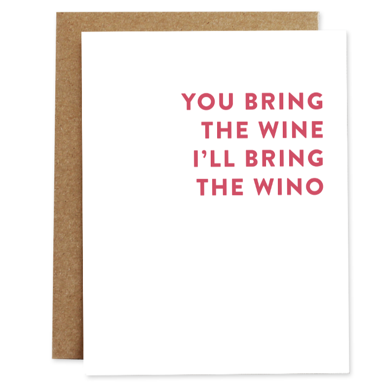 Wine/Wino - Greeting Card