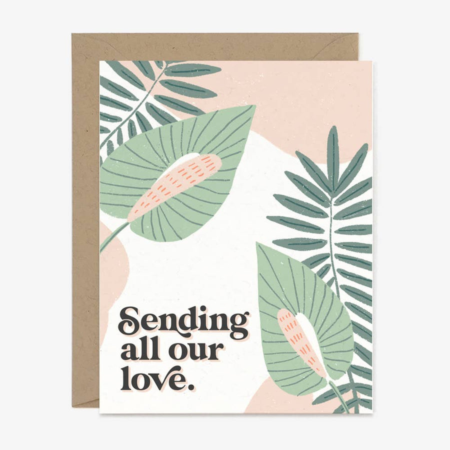 Sending All Our Love - Greeting Card