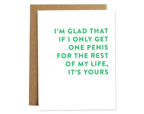 One Penis - Greeting Card