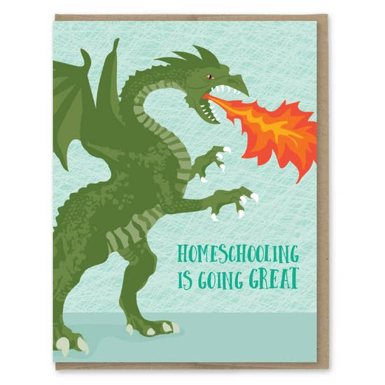 Homeschool Dragon - Greeting Card