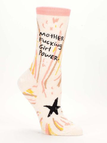 Blue Q Mother F*cking Girl Power Ankle Women's Crew Socks