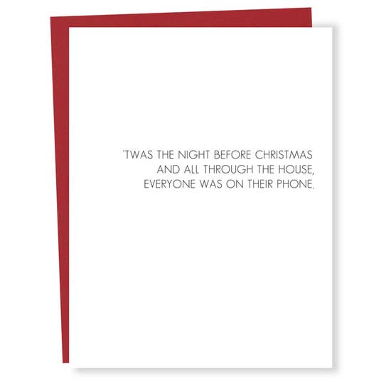 Night Before Christmas On Your Phone - Greeting Card