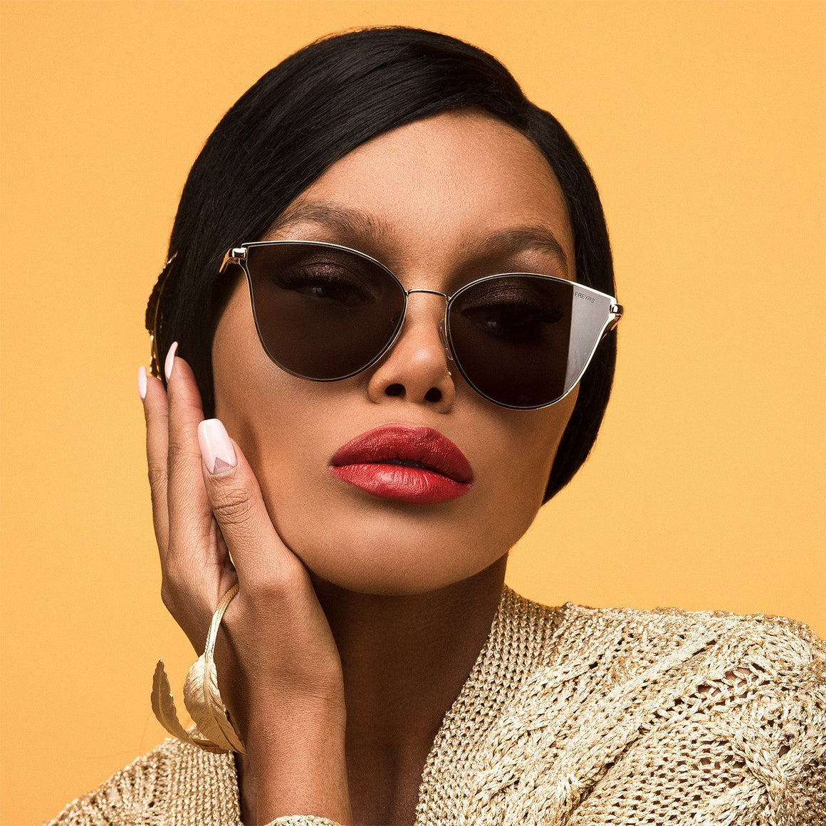 Ivy Sunnies - Gold & Grey | FREYRS | JV Studios Boutique