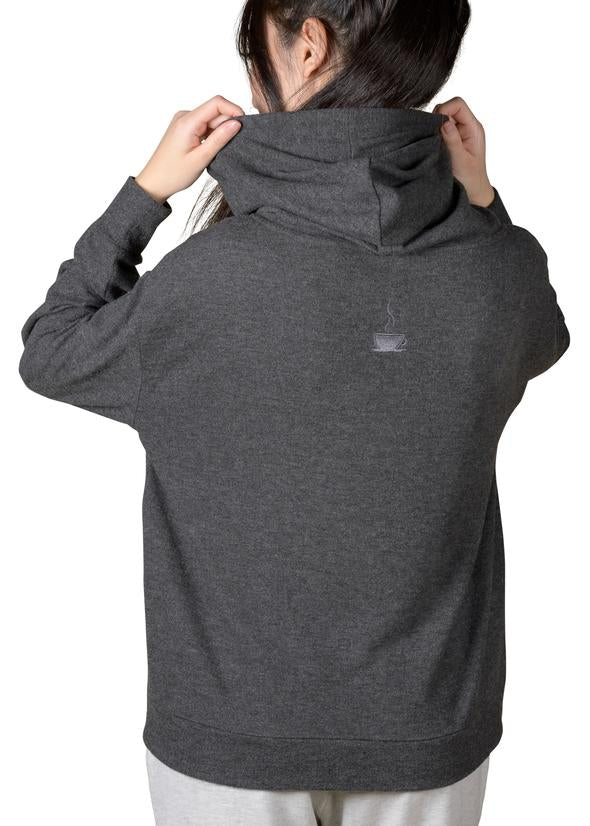 Cozy Slip On Reading Hoodie - Charcoal Grey