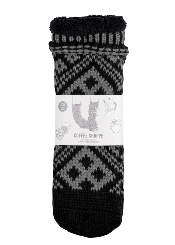 Reading Sock  -  Black/Grey