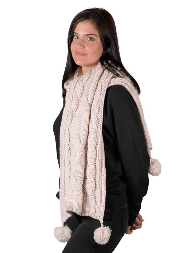 Cable Scarf - Millennial Pink