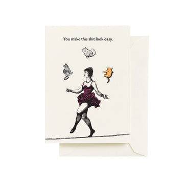 Juggling Cats - Greeting Card