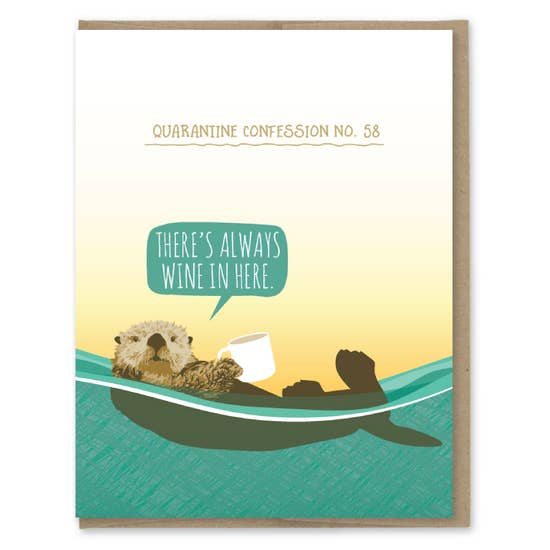 Quarantine Otter - Greeting Card