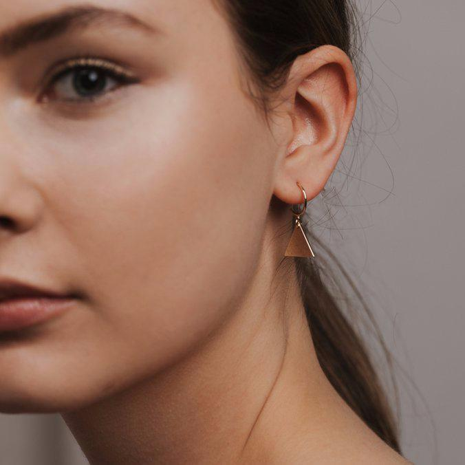 Everly Triangle Hoops | LOVER'S TEMPO | JV Studios & Boutique