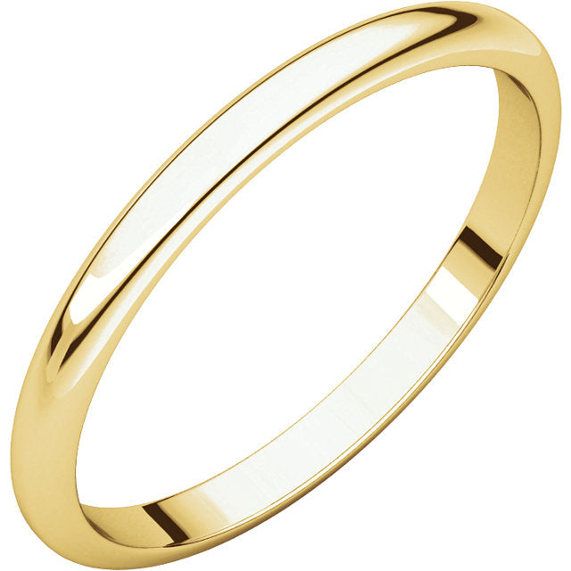 14K Yellow Gold Half Round Band | JV BASICS
