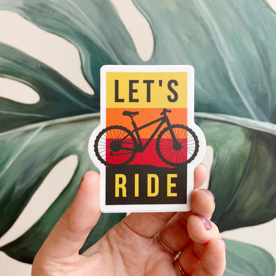 Let's Ride (Mountain Bike) | Sticker