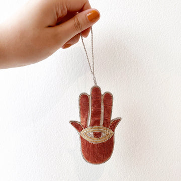 Hamsa Plush Ornament