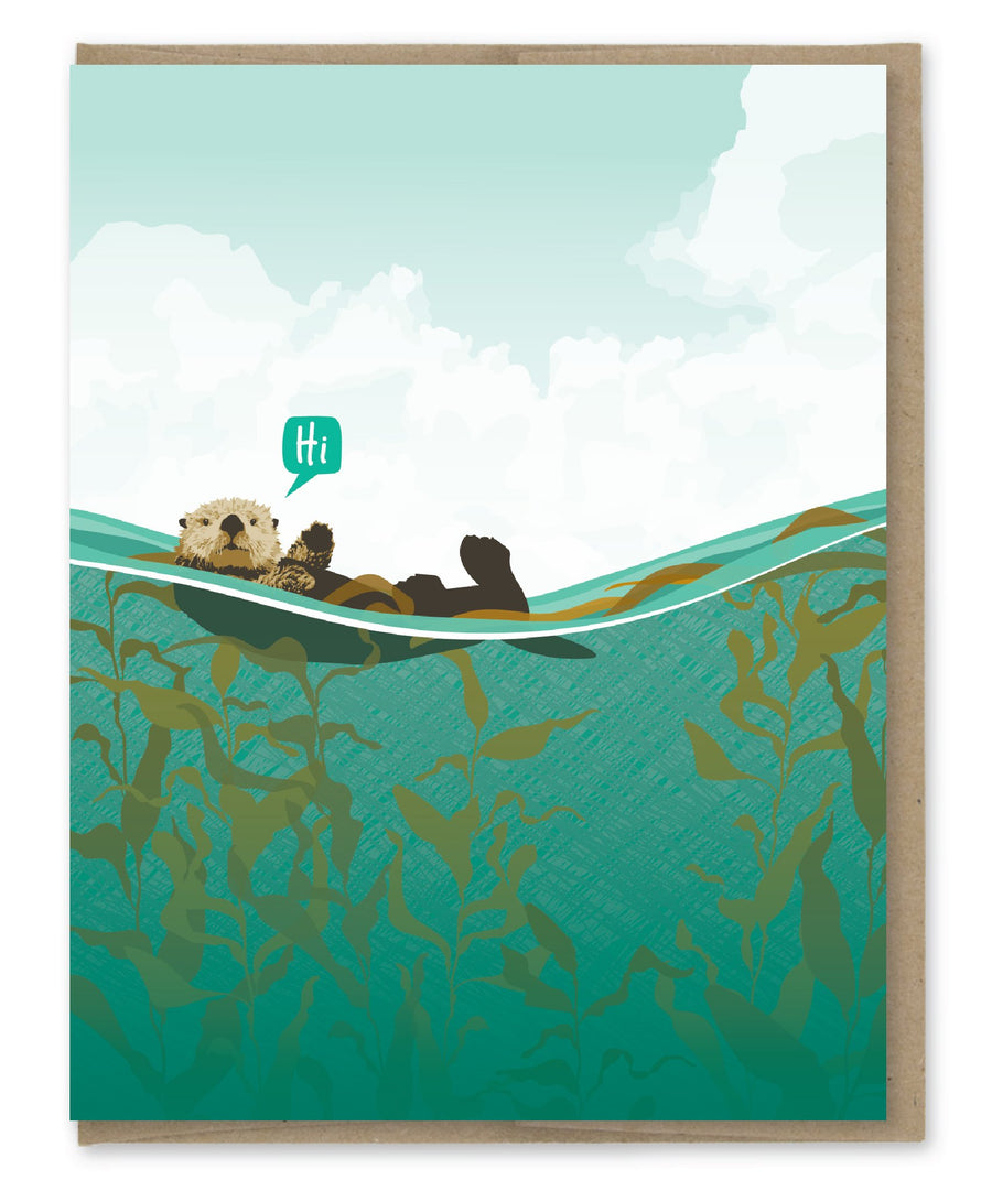 Hi Otter - Greeting Card