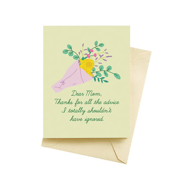 Advice Mother's Day - Greeting Card