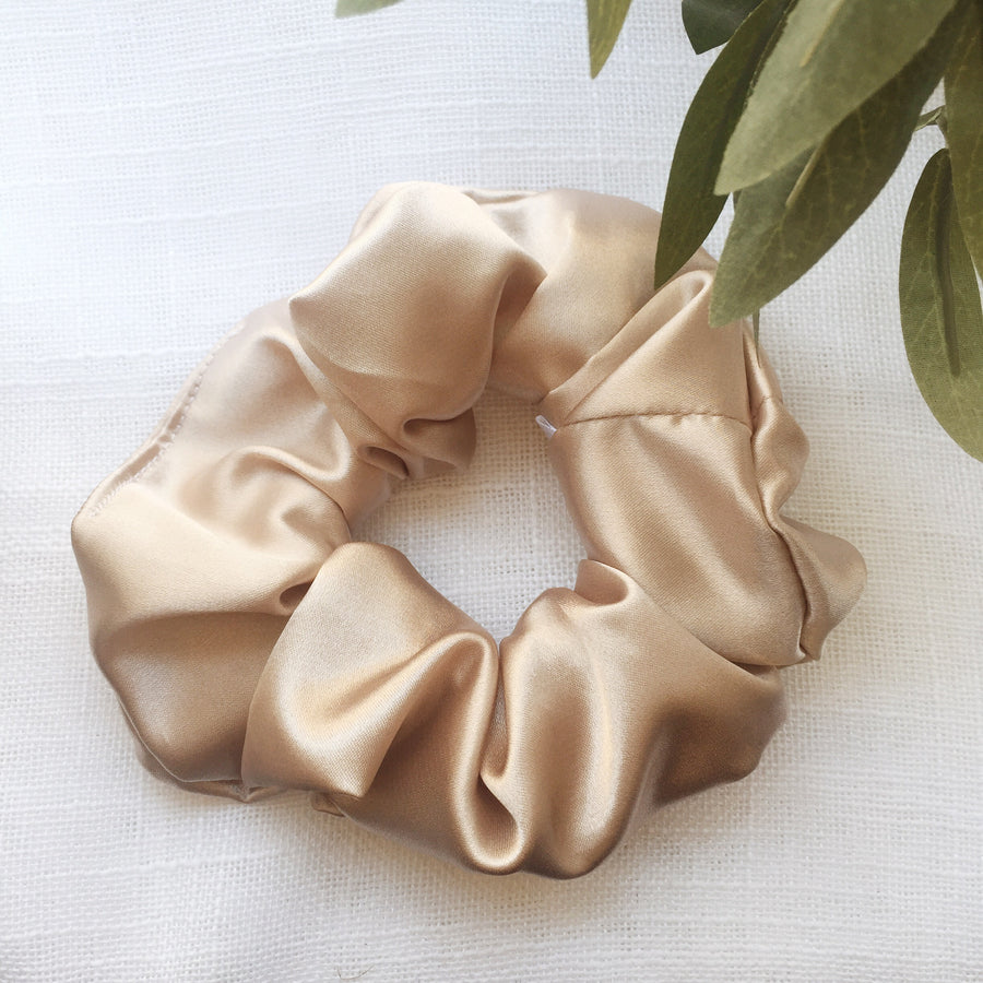 Satin Scrunchie - Champagne