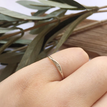 Petite Diamond Signet - Silver | CLAUS JEWELRY