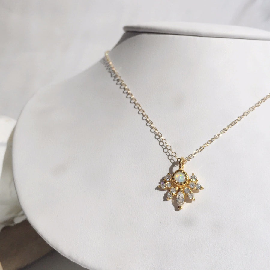 Opal & Diamond Pocahontas Necklace | LA KAISER