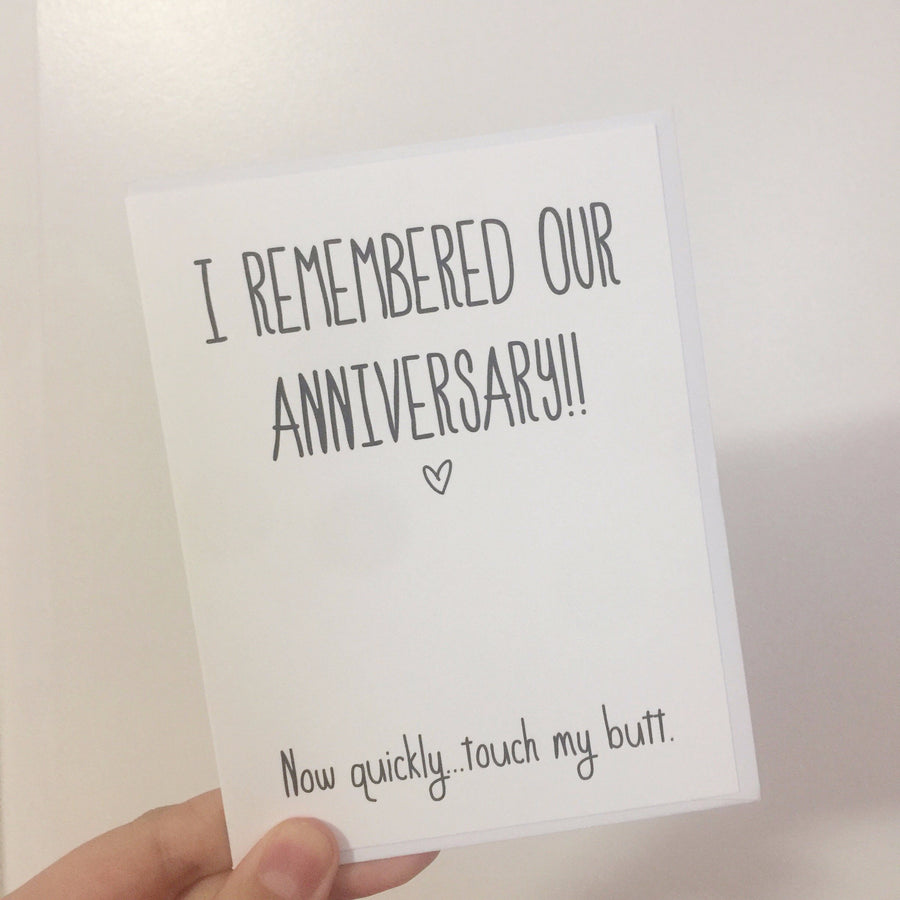 Remembered Our Anniversary - Greeting Card