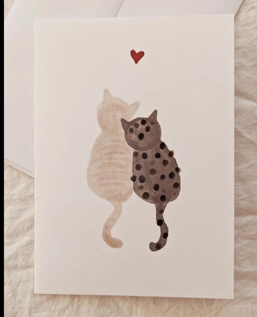 Amour Purrfait - Greeting Card