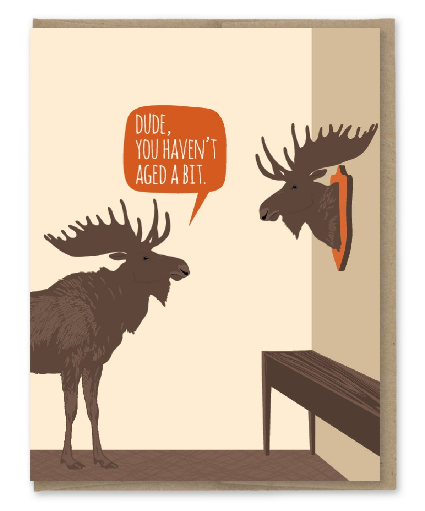 Aged Moose - Greeting Card