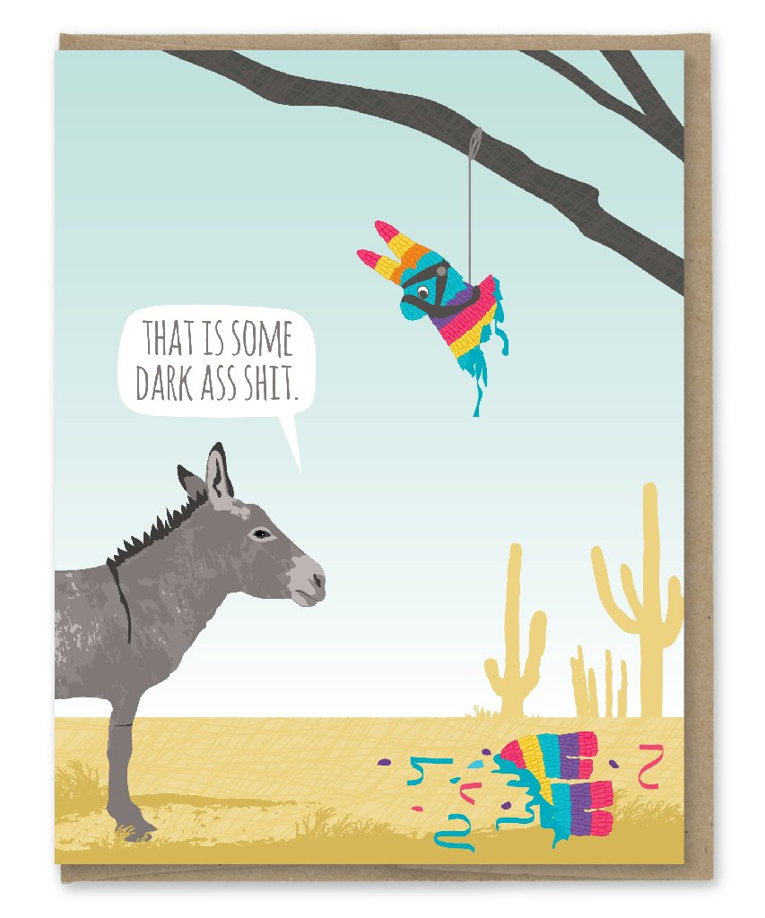 Donkey Piñata - Greeting Card