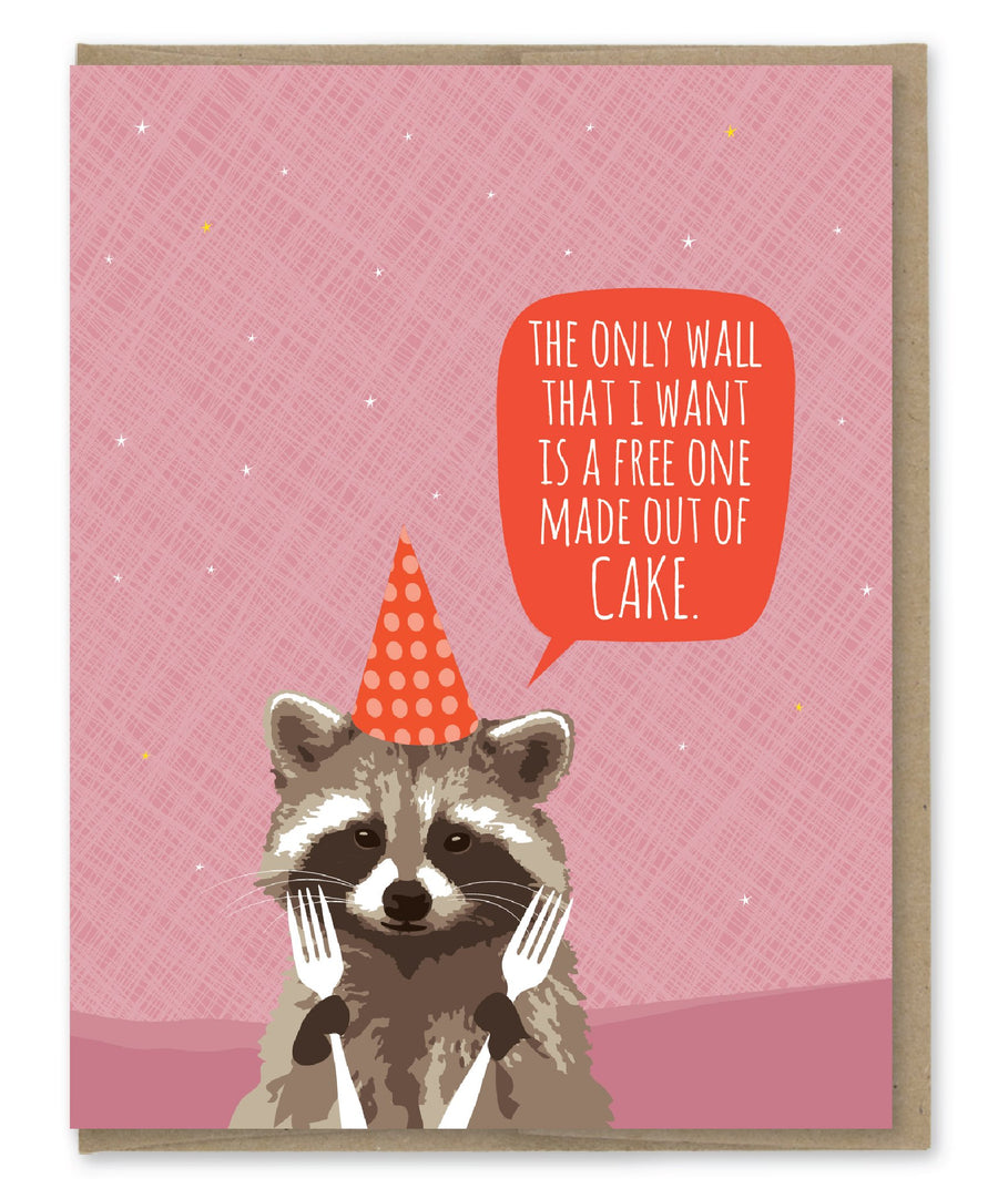 Wall of Cake - Greeting Card