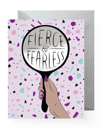 Fierce & Fearless Sticker Card - Greeting Card