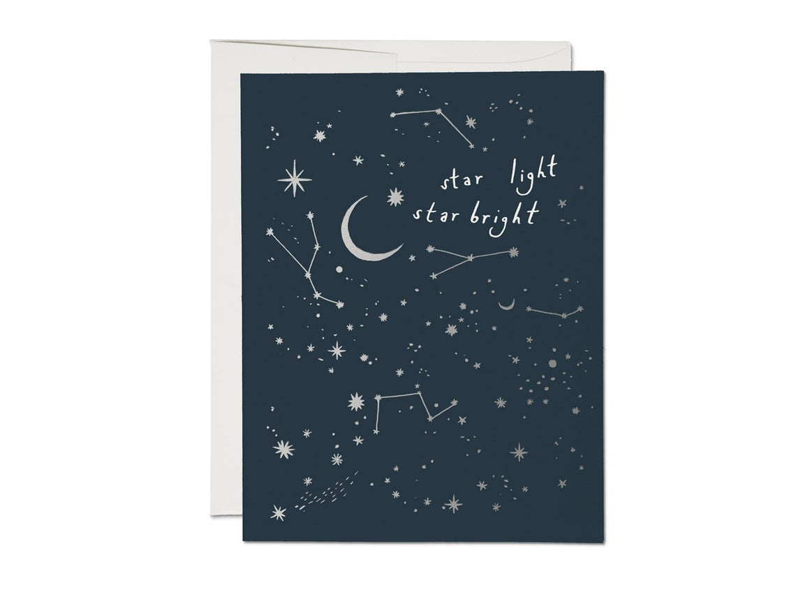 Moon and Stars Card