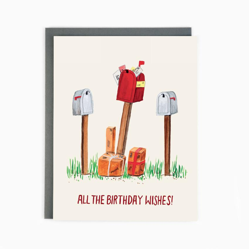 Birthday Mailboxes - Greeting Card