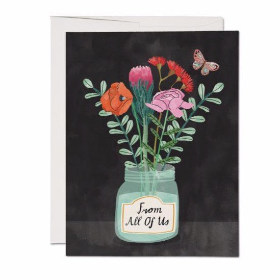 Flowers From Us - Greeting Card
