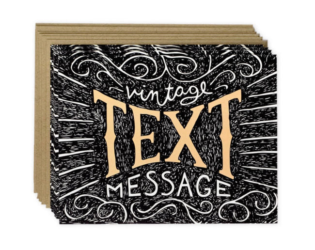 Vintage Text Message - Greeting Card Boxed Set