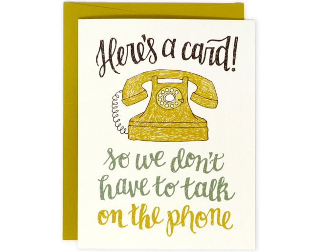 Talk On The Phone - Greeting Card