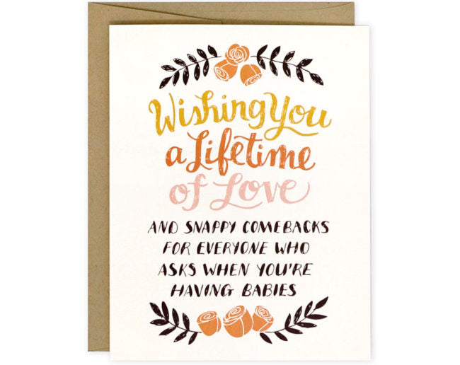 Snappy Comebacks - Greeting Card