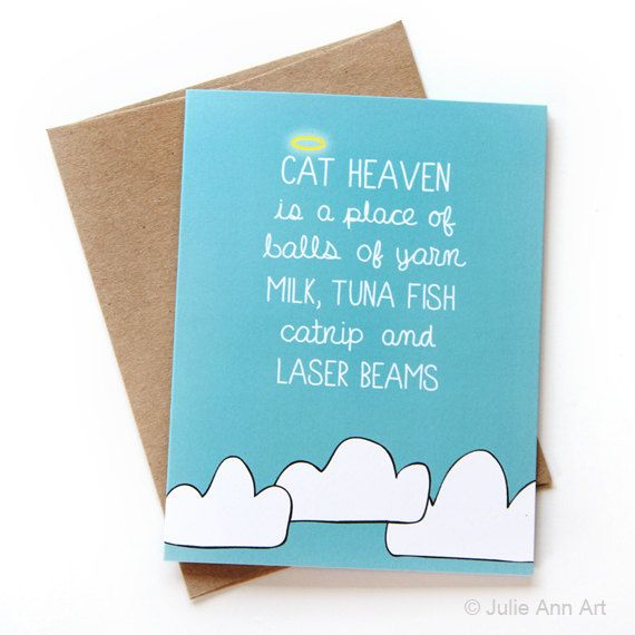 Cat Heaven - Sympathy Card