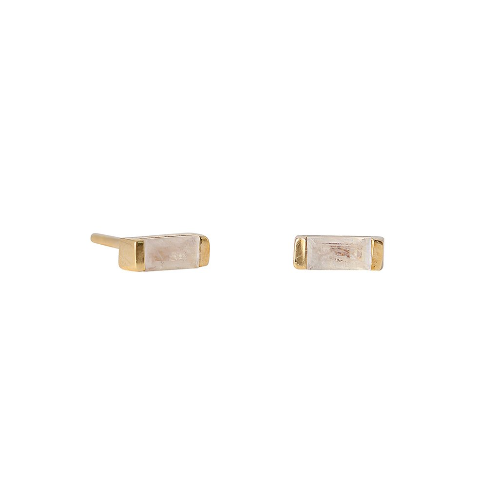 Channel Studs - Moonstone