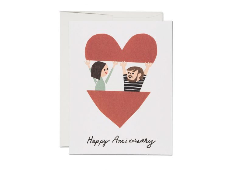 In The Heart Anniversary - Greeting Card