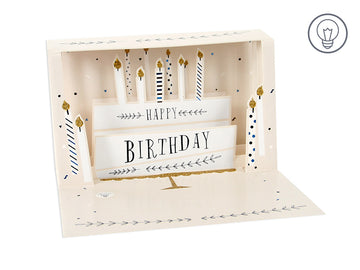 Birthday Cake Shadow Box - Greeting Card