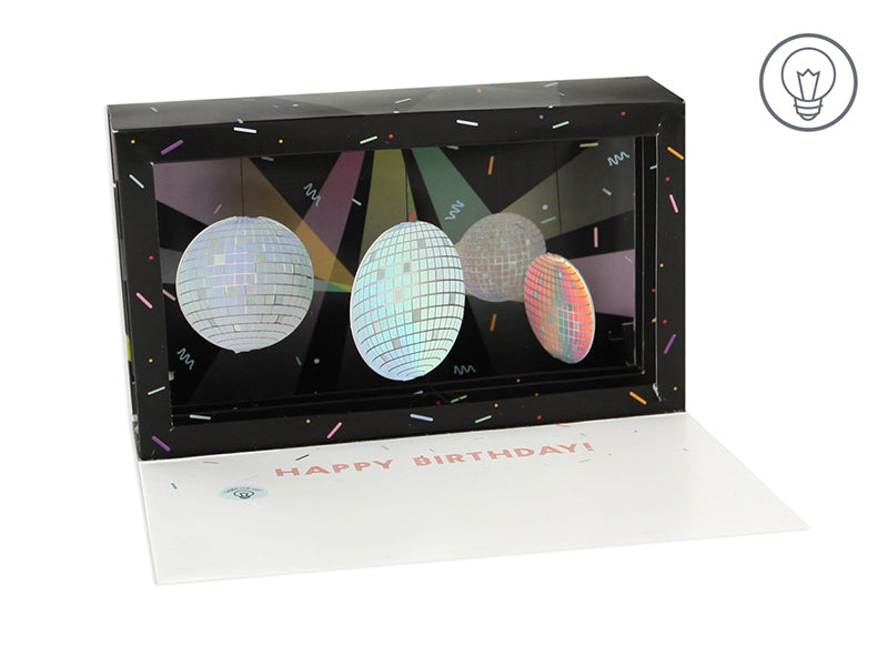 Disco Ball Shadow Box - Greeting Card