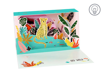 Leopard Shadow Box - Greeting Card