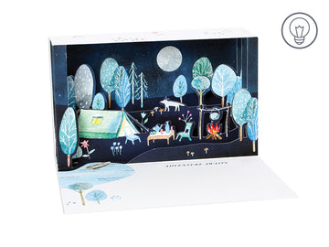 Outdoor Adventure Shadow Box - Greeting Card