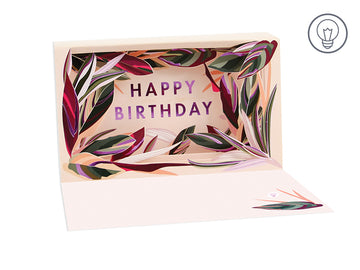 Birthday Leaves Shadow Box - Greeting Card