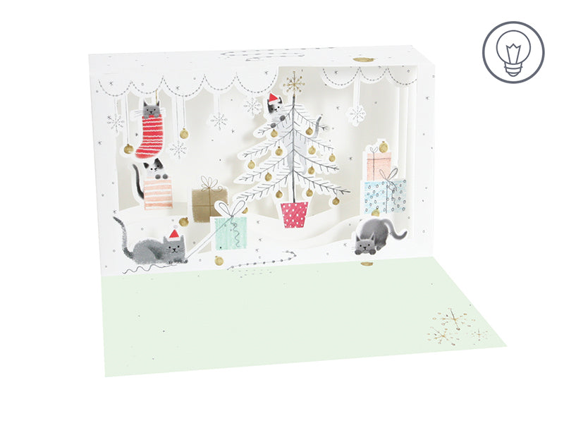 Trouble Cats Shadow Box - Greeting Card