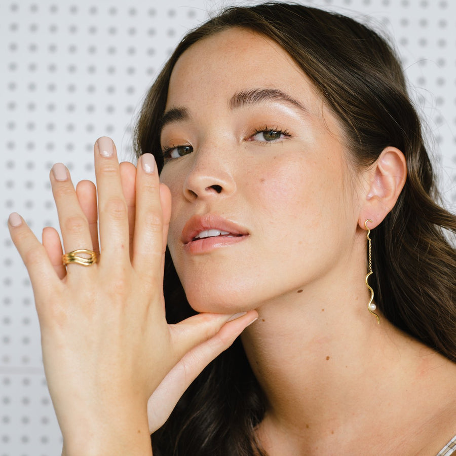Freeform Contour Ring - Gold | KARA YOO | JV Studios Boutique