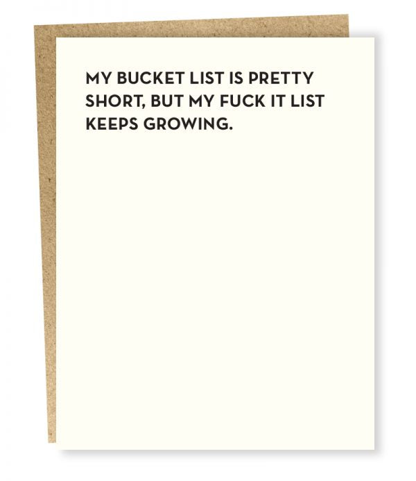 Bucket List - Greeting Card