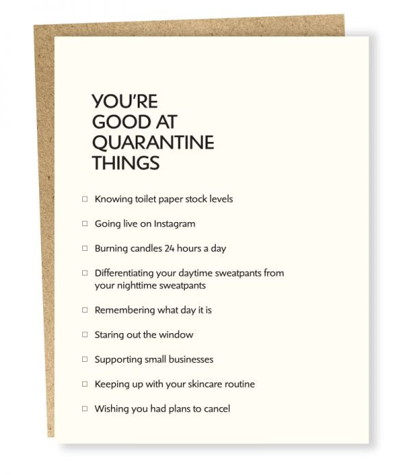 Quarantine Things - Greeting Card