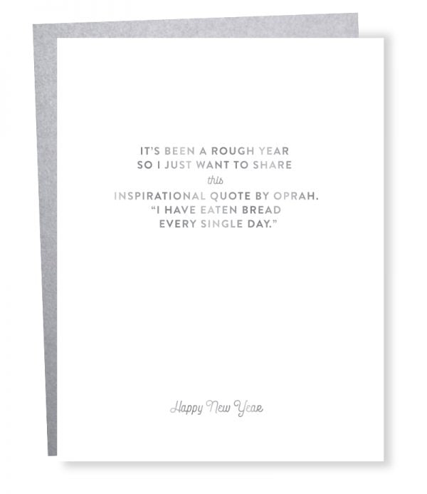 Oprah New Years - Greeting Card